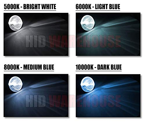 9007 10000K 10K Dark Blue XtremeVision 35W Xenon HID Lights with Premium Slim Ballast 2 Year Warranty