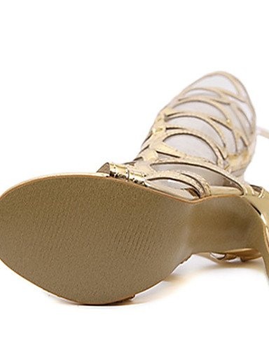Cn40 Zq 5 Uk6 Stiletto Zapatos tacones Cn39 pu Eu39 us8 us8 Mujer Golden 5 De Golden negro casual tacones Uk6 tac¨®n Oro waTxwprq