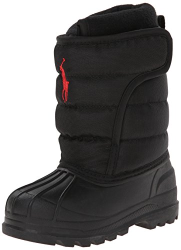 Polo Ralph Lauren Kids Hamilten EZ Winter Boot ,Black,4 M US