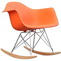 Fine Mod Imports Rocker Arm Chair, Orange
