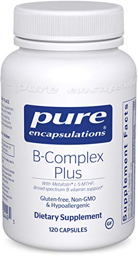 Complex 120 Capsules - Pure Encapsulations - B-Complex Plus - Balanced B Vitamin Formula with Metafolin L-5-MTHF and Vitamin B12-120 Capsules