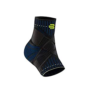 Bauerfeind Sports Ankle Support - Breathable Compression - Figure 8 Taping Strap - Air Knit Fabric for Breathability (Black, Large, Right)