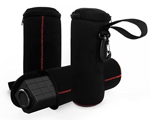 FitSand Travel Zipper Carrying Sleeve Soft Portable Bag Pouch Box Case Cover for Photive HYDRA Rugged Water Resistant Wireless Bluetooth Speaker
