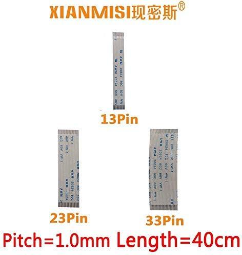 Generic FFC/FPC Flat Flex Extension Cable 13Pin 23Pin 33Pin Same Side 1.0mm Pitch AWM VW-1 20624 20798 60V Length 40cm 5PCS