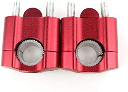 FidgetGear For Ducati MULTISTRADA 620 2006 STREETFIGHTER 848 13-18 Handlebar Riser Mount Red