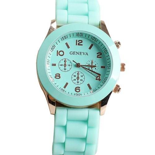 Jelly Sport Wrist Watch (Domire Popular Silicone Quartz Men Women Girl Boy Unisex Jelly Wrist Watch)
