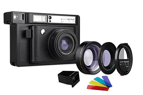 Lomography Lomo'Instant Wide Black + Lenses – Instant Film Camera