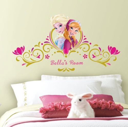 Disney FROZEN wall stickers MURAL stickups ANNA ELSA letters personalize decals (Super Trippy Hippie Halloween)