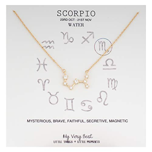 (My Very Best Horoscope Constellation Zodiac Sign Necklace (Scorpio (Oct 23 - Nov 21)_Gold Plated Brass) )