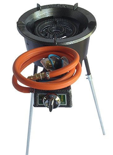 EasyFlamer High Power Long Leg Natural Gas Stove with Wind Guard and Quick Disconnect