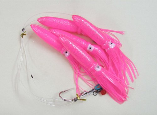 Shell Squid Daisy Chain – Pink – 1pc – W/single Lure Bag – Item # 228