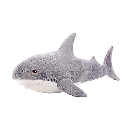 Interstellar Shark Dolls, Great White Shark Plush Stuffed Animal Toys, Children's Gifts(17in): Home & Kitchen