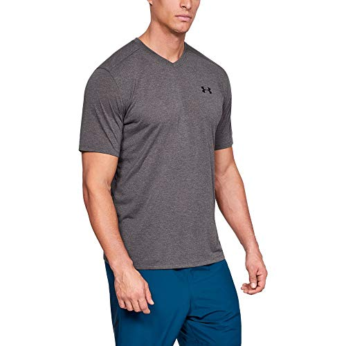 - Under Armour Men's Threadborne Short sleeve vneck, Charcoal Full Heathe (019)/Black, XX-Large