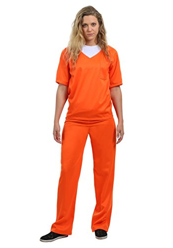 [Women's Orange Prisoner Costume Large] (Marvin The Martian Halloween Costume)