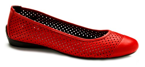 Pluggz Womens Ballerines - Couleurs Rouge