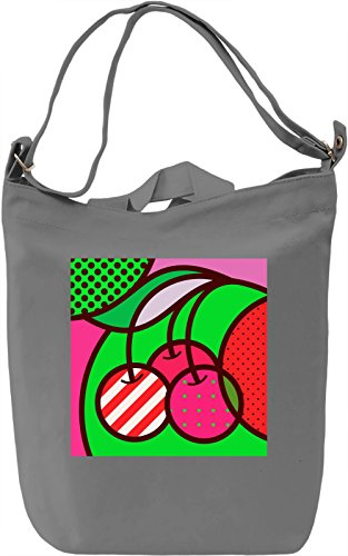 Cherry Pop Art Borsa Giornaliera Canvas Canvas Day Bag| 100% Premium Cotton Canvas| DTG Printing|