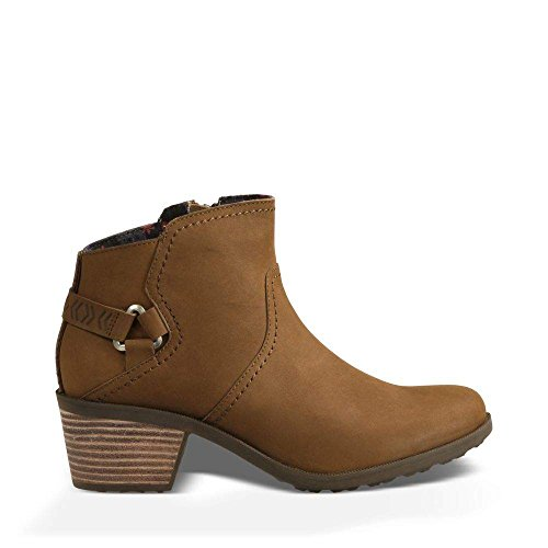 Ankle Bootie Leather (Teva Women's W Foxy Ankle Boot, Bison, 6 M US)