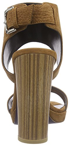 Mujer Talón Braun Slingback driftwood Abierto Marrón De 730 Laurèl Zapatos wtqPxX