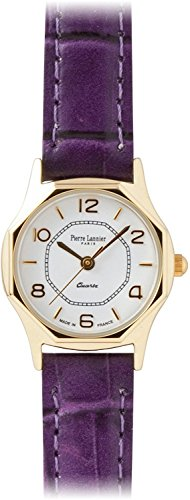 PIERRE LANNIER press watch octagonal Watch Gold / Croco violet P043504 C22 Ladies