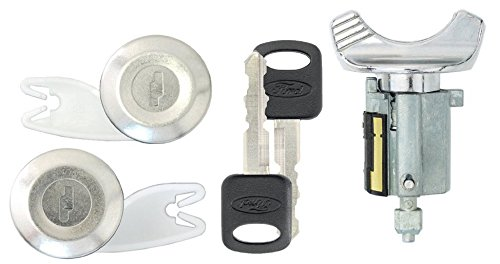 Ford 1992-95 F150, F250 Pick Up Ignition and 2 Door Locks with 2 Keys (Black) (Pickup Ignition Door Locks)