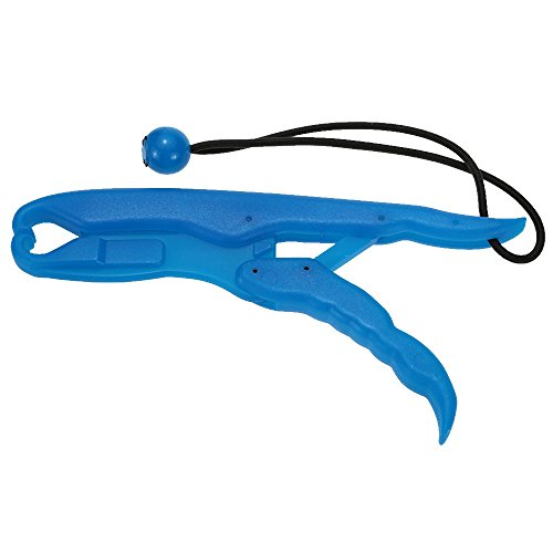 Toasis 10.2in Plastic Fishing Gripper Luminous Floatable Fish Lip Grabber Lure Pliers with Lanyard (Blue)