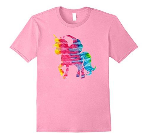 Mens Tie Dye Unicorn Graphic T-Shirt XL Pink (Hippie Horse Costume)