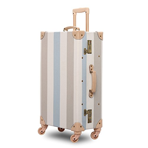 vintage luggage with wheels - 7