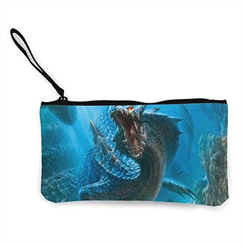 Oomato Canvas Coin Purse Dragon in The Water Cosmetic Makeup Storage Wallet Clutch Purse Pencil Bag ()