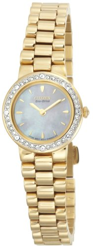 - Citizen Women's EW9822-59D Eco-Drive Silhouette Crystal Gold-Tone Watch