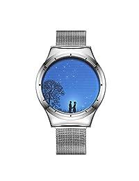VIGOROSO Fashion Mens Boy's Smart Touch LED Quartz Waterproof Sports Wrist Watch(Silver)