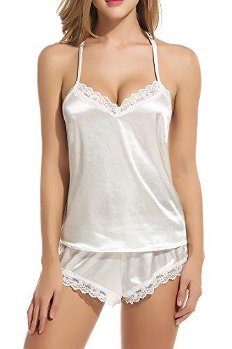 Avidlove - Pijama - para mujer blanco