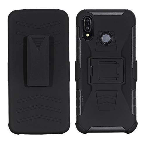 - KAWOO Huawei P20 Lite Holster, Super Slim Huawei P20 Lite Shell Case with Built-in Kickstand, Swivel Belt Clip Holster for Huawei P20 Lite 2018