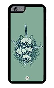 iZERCASE iPhone 6 PLUS Case Swords Thru Skulls RUBBER CASE - Fits iPhone 6 PLUS T-Mobile, Verizon, AT&T, Sprint and International