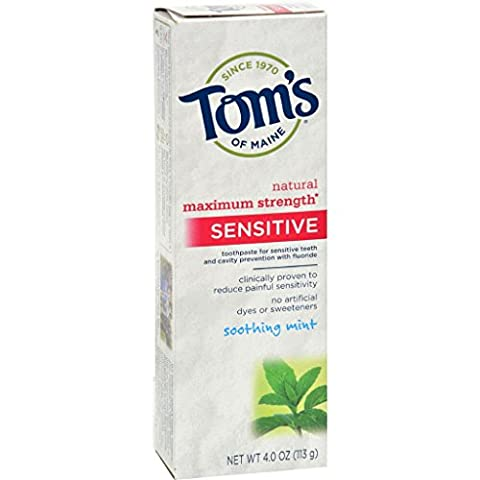 Tom's of Maine Sensitive Toothpaste Soothing Mint - 4 oz - Case of 6 (Dycal Cement)