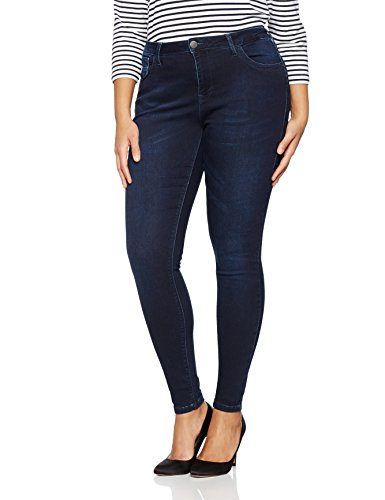 Zizzi Jeans, Long, Super Slim, Amy, Vaquero Skinny para Mujer Blau (Dark blue 1074)