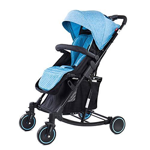 1つの軽量の折り畳み式の多機能のベビーカーに付き3つ、0-36か月のためのロッキングチェア及びゆりかご及び車椅子 - 41 * 72 * 100 cm  Blue B07PR3685X