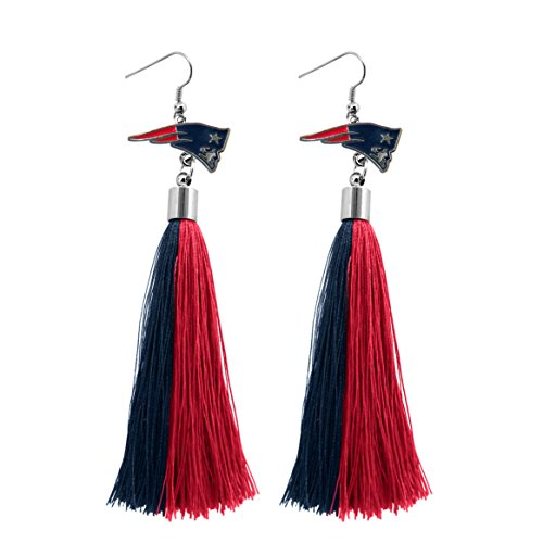 (NFL New England Patriots Tassel Earrings)