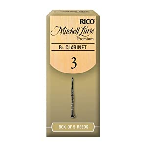 Rico Mitchell Lurie Premium 3.0 Strength Reeds for Bb Clarinet (Pack of 5)