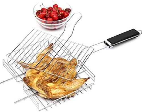 DWDADYYY Titane Barbecue Grill Barbecue extérieur Net Pique-Nique Barbecue Plateau Cuisine Barbecue Accessoires Durable Outils de Cuisine avec poignées