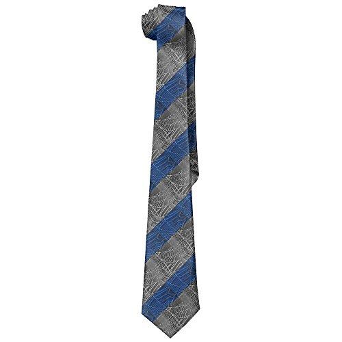 Spider's Web Men's Classic Polyester Solid Silk Tie Necktie