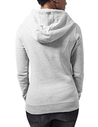 Urban Classics Ladies High Neck Hoody, Sudadera para Mujer Grau (Grey 111)