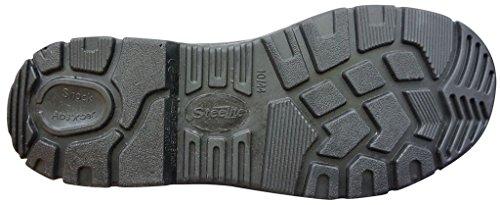 Sicherheitsschuhe S3 Steelite- Unisex Arbeitsschuh aus Büffelleder/Wasserresistent in den Größen 36-50- PU Sohle- EN ISO 20345 (42)