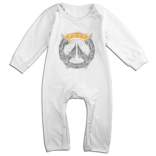 (MoMo Over Creative Watch Logo Toddler/Infant Romper Playsuit Outfits 18 Months White)