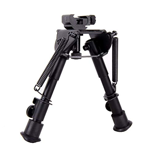 Ohuhu 6-9 Inches Tactical Rifle Bipod Adjustable Spring Return with 360 Degree Swivel Adapter