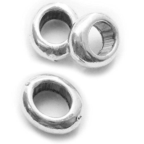 Double Happiness Diamond Ring (Small Hole & Long Spacer (145 Pcs Silver 8X7mm Beads with 5X4mm Big Hole))