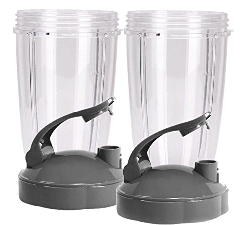 Preferred Parts 2 Piece Huge Replacement Cups for Nutribullet High-Speed Blender/Mixer Cup with Flip Top to Go Lid, 32 oz. by Preferred Parts