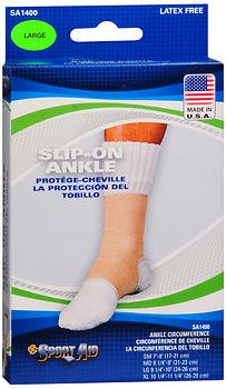 Sport Aid Slip-On Ankle Support LG - 1ea, Pack of 6 by SportAid
