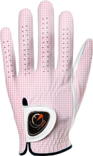 easyglove Classic_Vichy-Pink-W Women s Golf Glove White