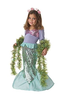 Lil Mermaid Girls Costume Medium Multicoloured by California Costumes