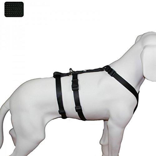 Black 75100cm   über 40kgFeltmann NoExit Dog Chest Harness Soft Safety Harness Plain Black